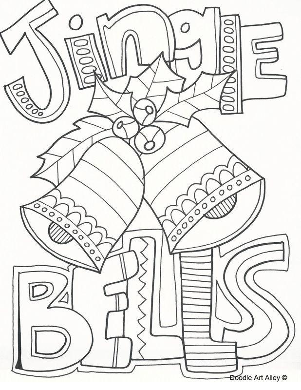 618x800 Jingle Bears Coloring Page