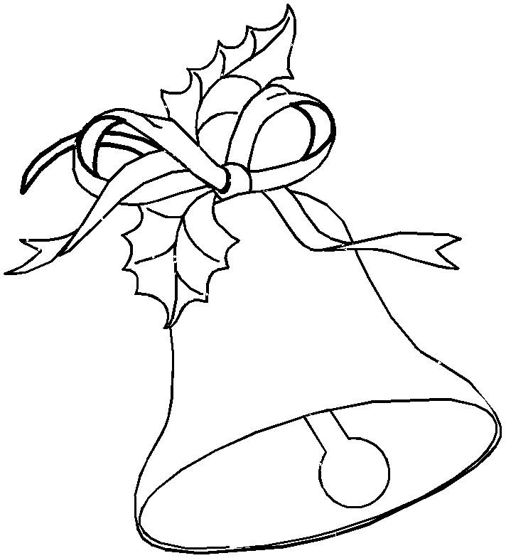 712x785 Printable Christmas Bells Coloring Page