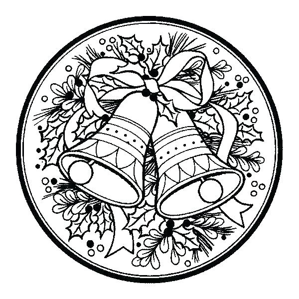 600x600 Christmas Bell Coloring Pages Coloring Page Printable Free Merry