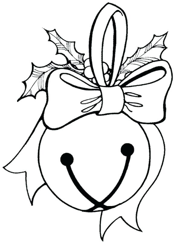 576x800 Christmas Bells Coloring Pages Plus Jingle Bell Coloring Page