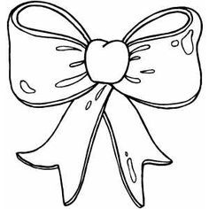 Christmas Bow Coloring Page
