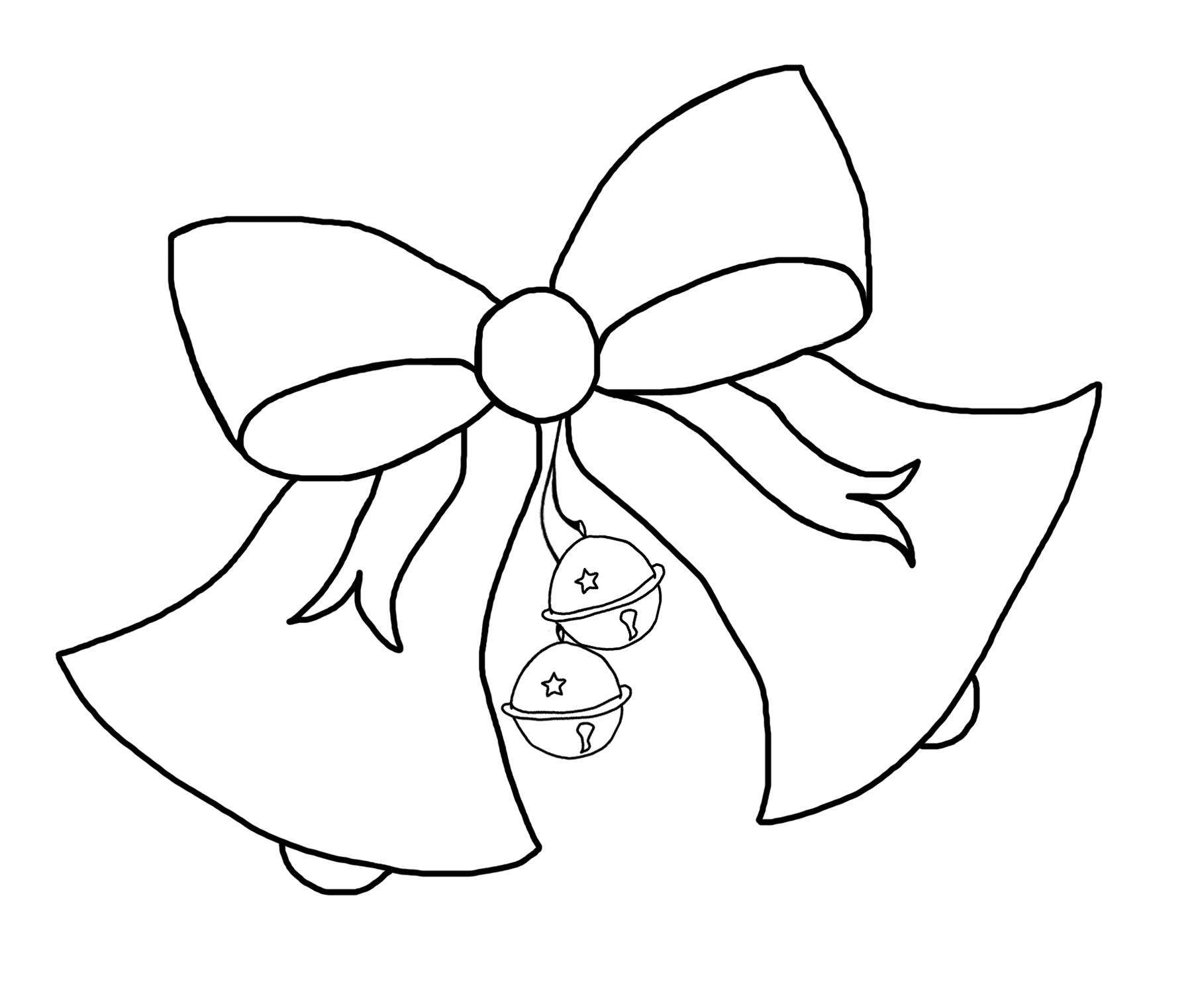 1800x1521 Christmas Bells Printable Coloring Pages