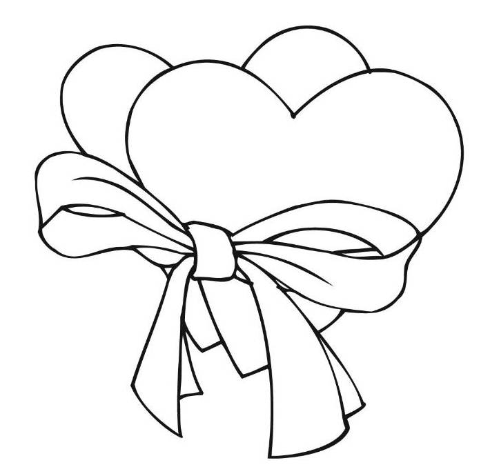 710x690 Christmas Bow Coloring Page