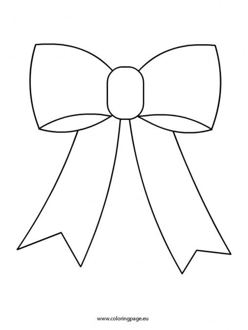 508x674 Christmas Bow Coloring Page