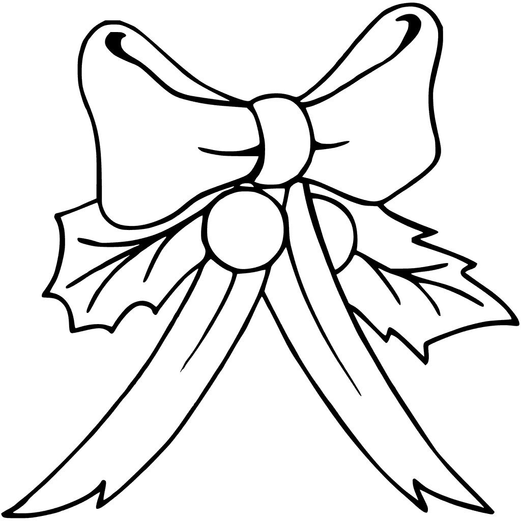 1024x1024 Christmas Bows Coloring Pages Printable