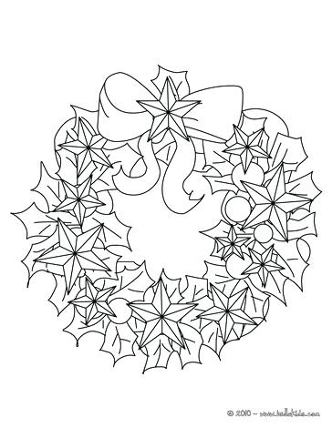 364x470 Coloring Page Christmas Bows And Ribbons Wreath Flower Crown