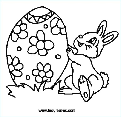500x484 Easter Bunny Coloring Easter Egg Coloring Page