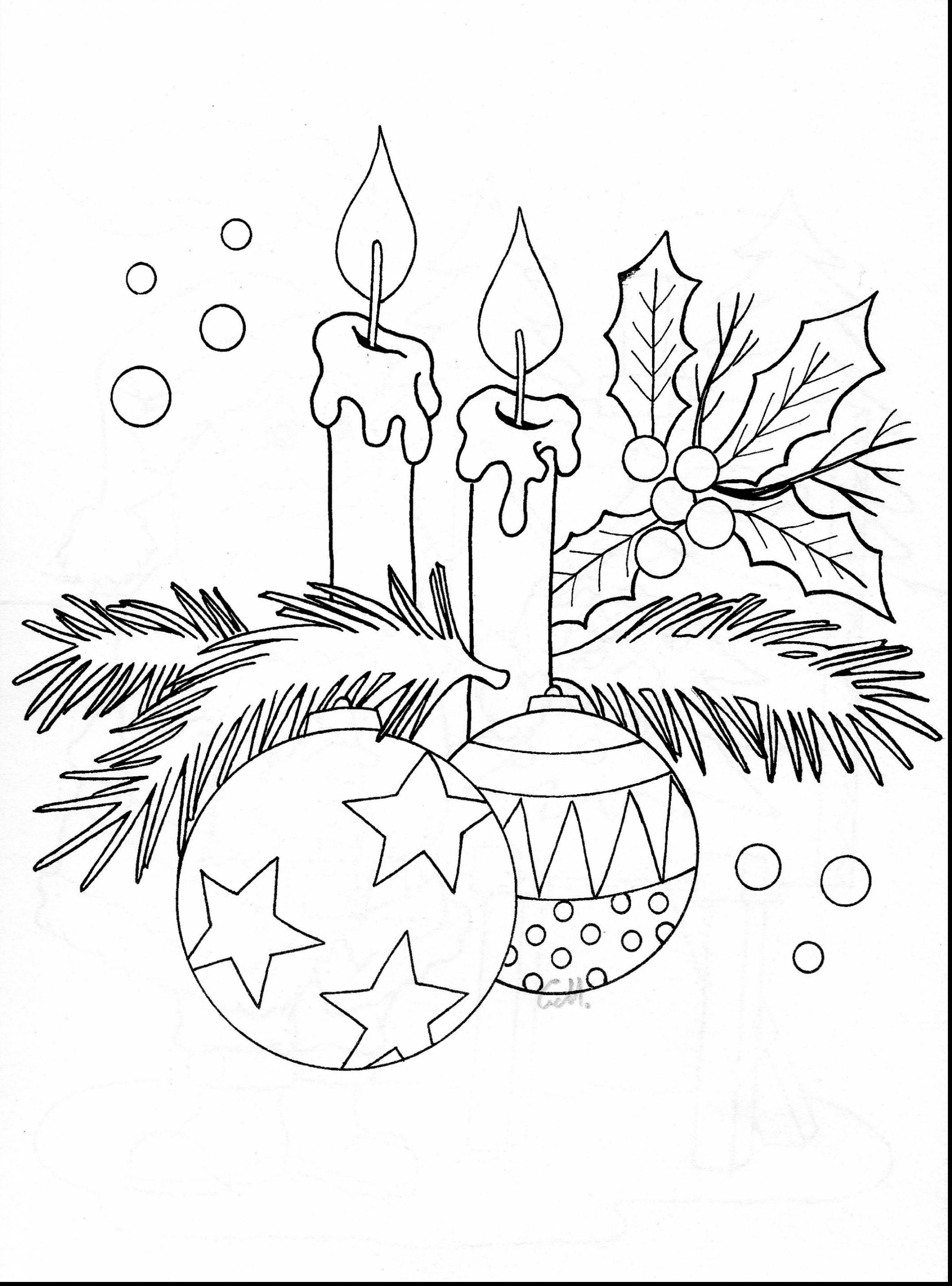 2333x3151 Christmas Candle Coloring Page