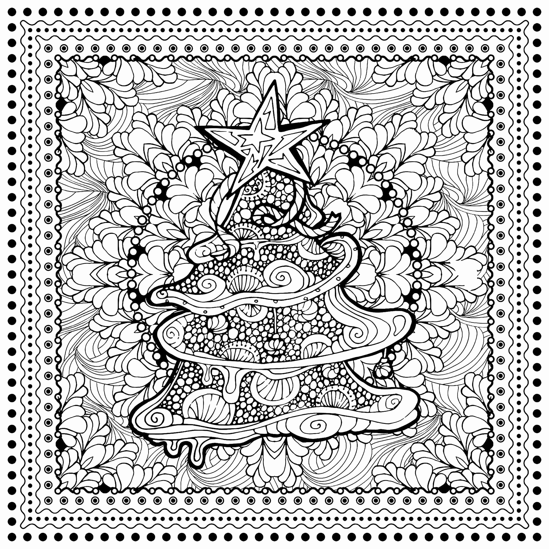 1800x1800 Christmas Candle Coloring Page Best Of Christmas Tree
