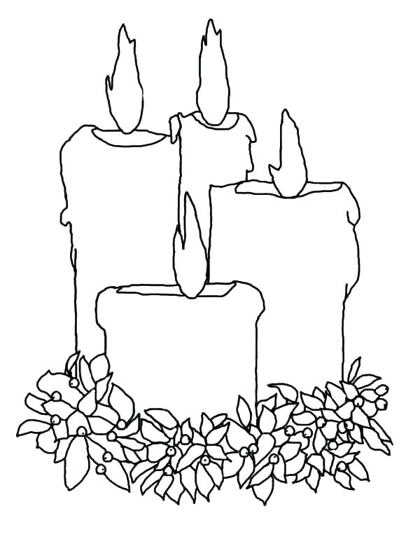 600x776 Christmas Candle Coloring Page Candle Coloring Page Best Toys