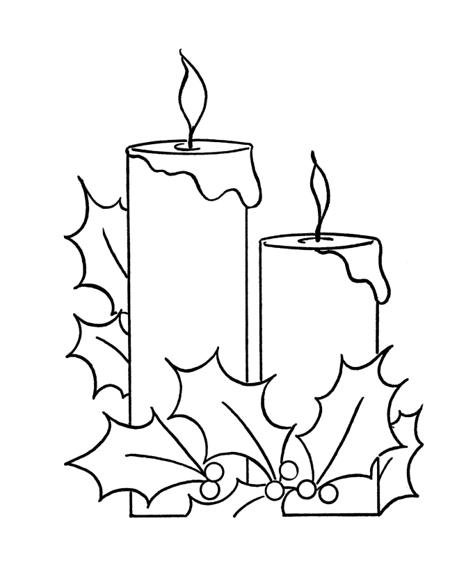 670x820 Candle Coloring Page Printable Free Coloring Pages