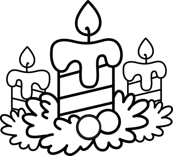 700x631 Christmas Candles Coloring Pages Free Printable Silent Night