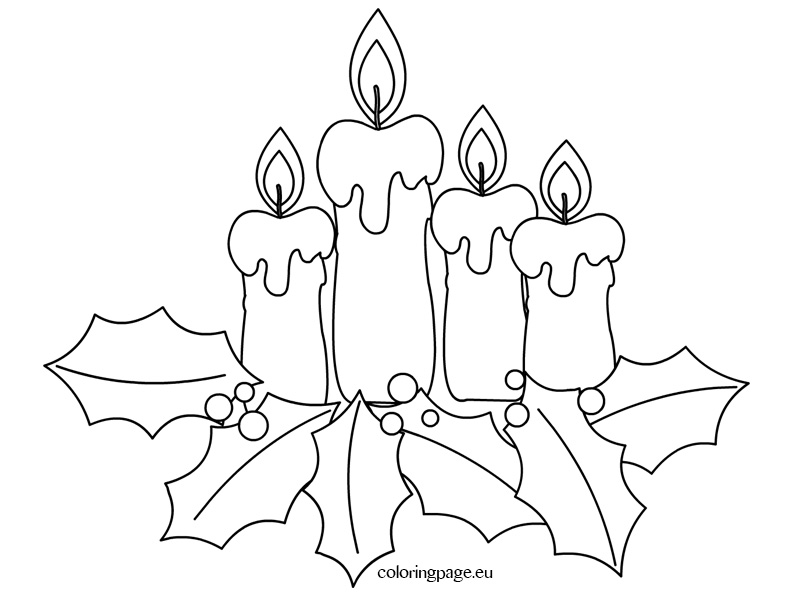 793x595 Christmas Coloring Page