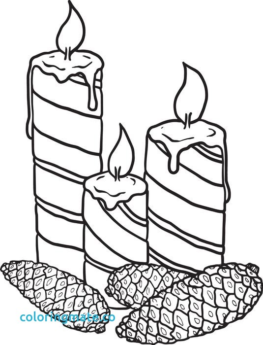 535x700 Candle Coloring Page Elegant Free Printable Christmas Candles