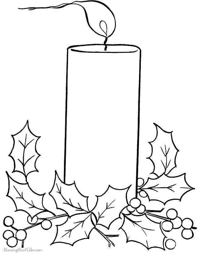 670x820 Candle Coloring Pages Candle Coloring Page Candle Light