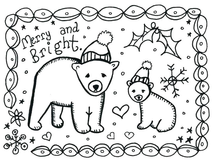 728x554 Christmas Card Coloring Pages Free Printable Christmas Card