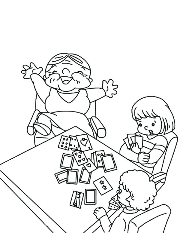 600x775 Christmas Card Coloring Pages Grandmother Beat Her Grandchildren