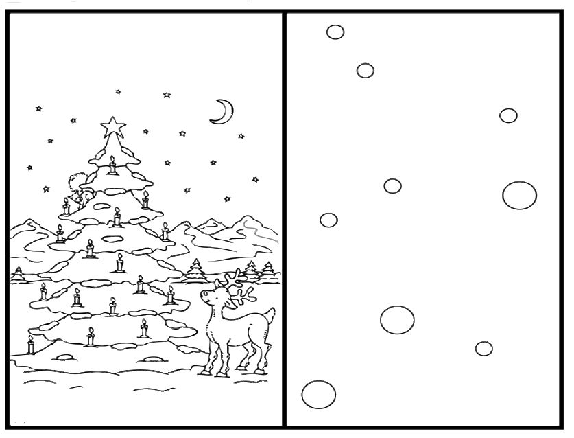 837x638 Christmas Card Colouring Christmas Tree Coloring Pages