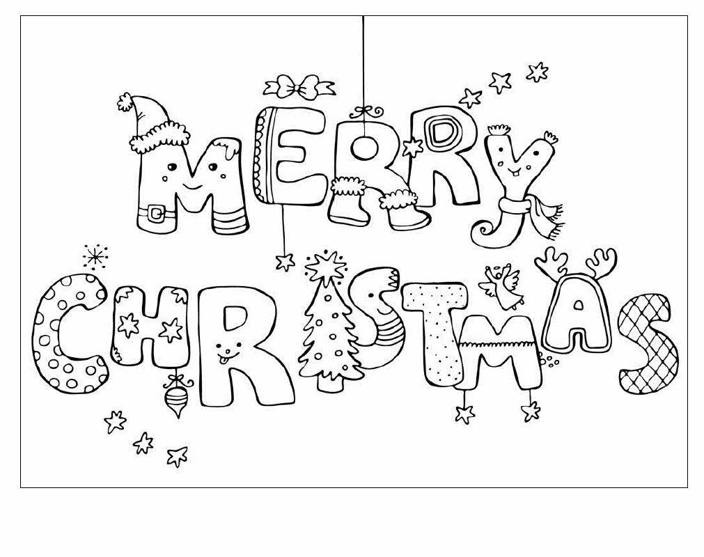 1011x800 Christmas Cards Coloring Pages Of Merry At Glum With Card