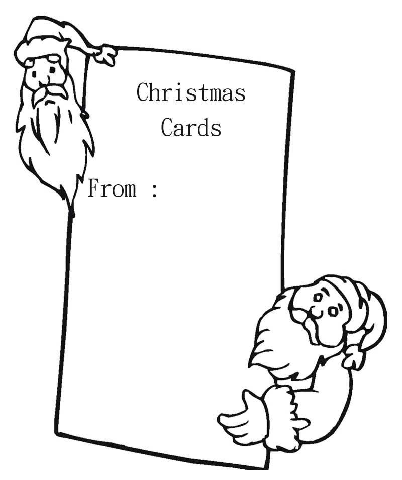800x955 Blank Christmas Card With Santa Coloring Page Christmas Cards
