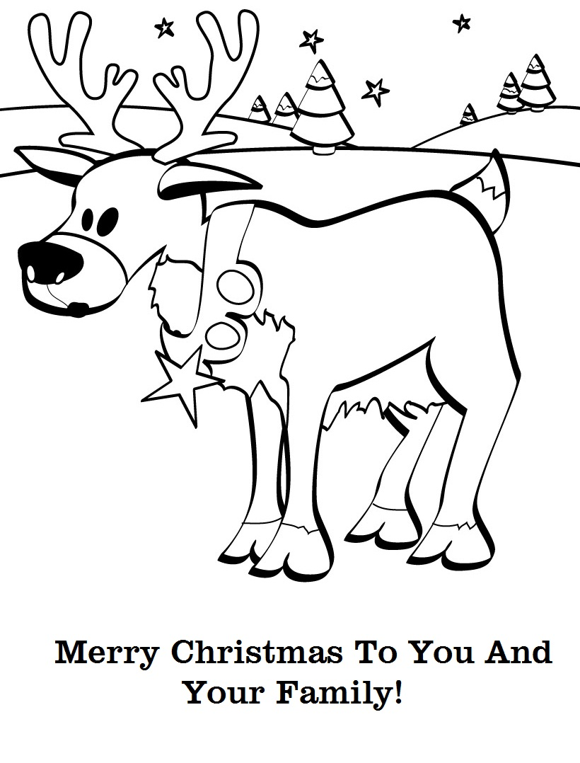 Christmas Card Coloring Pages At Getdrawings Com Free For Personal