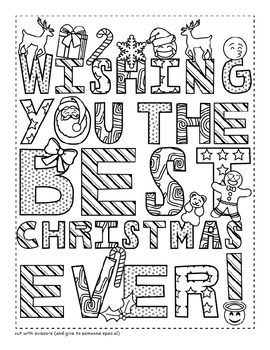 270x350 Emoji Christmas Card Coloring Page