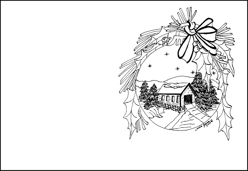 792x545 Spectacular Christmas Card Coloring Page