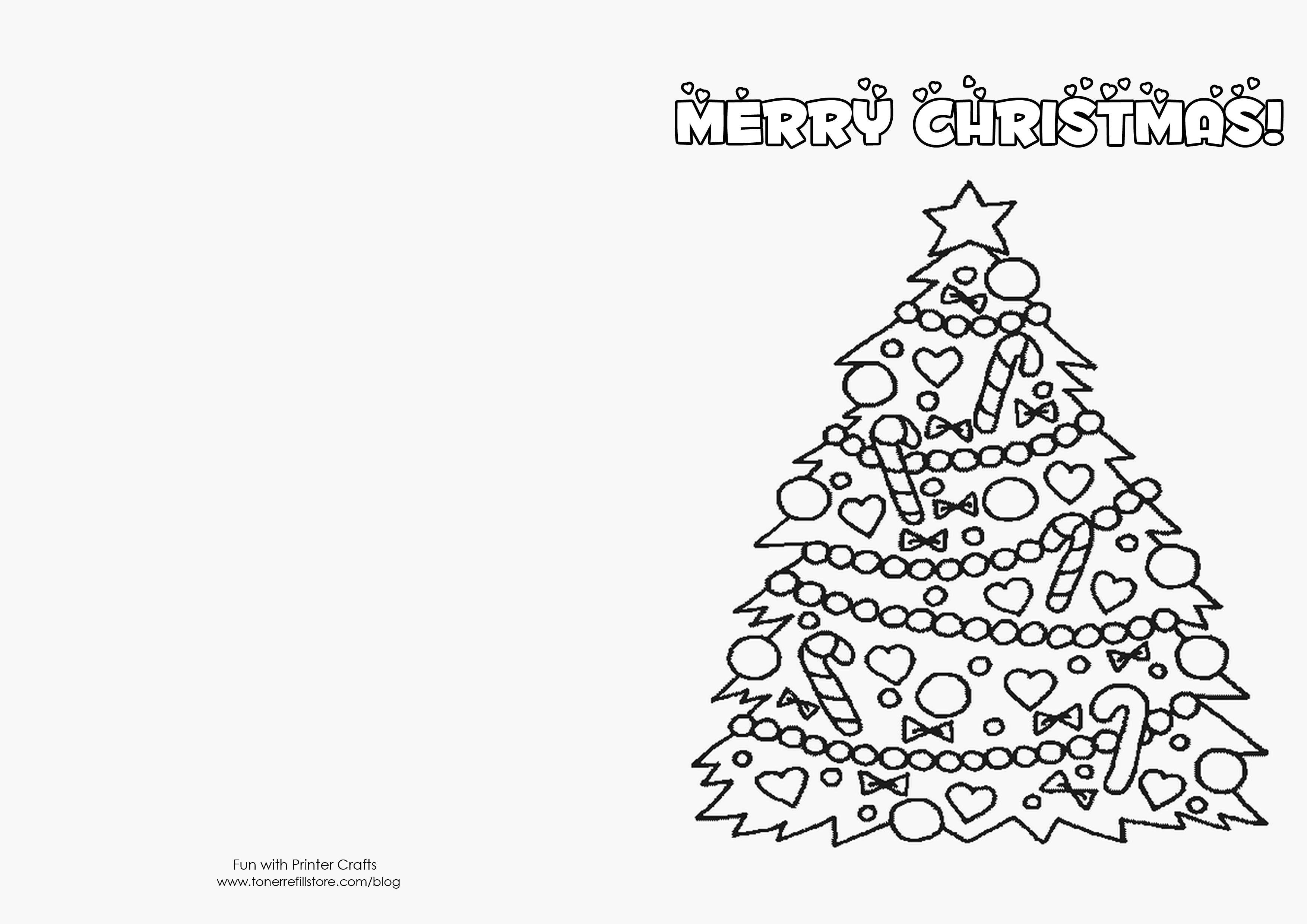 3508x2480 Christmas Card Coloring Pages