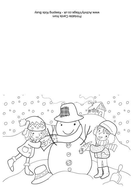 460x650 Christmas Colouring Card