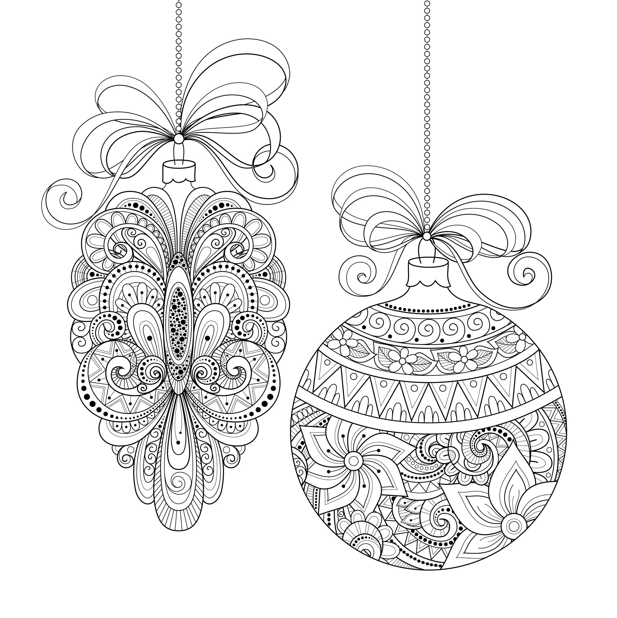2047x2049 Adult Coloring Pages Christmas Card Download