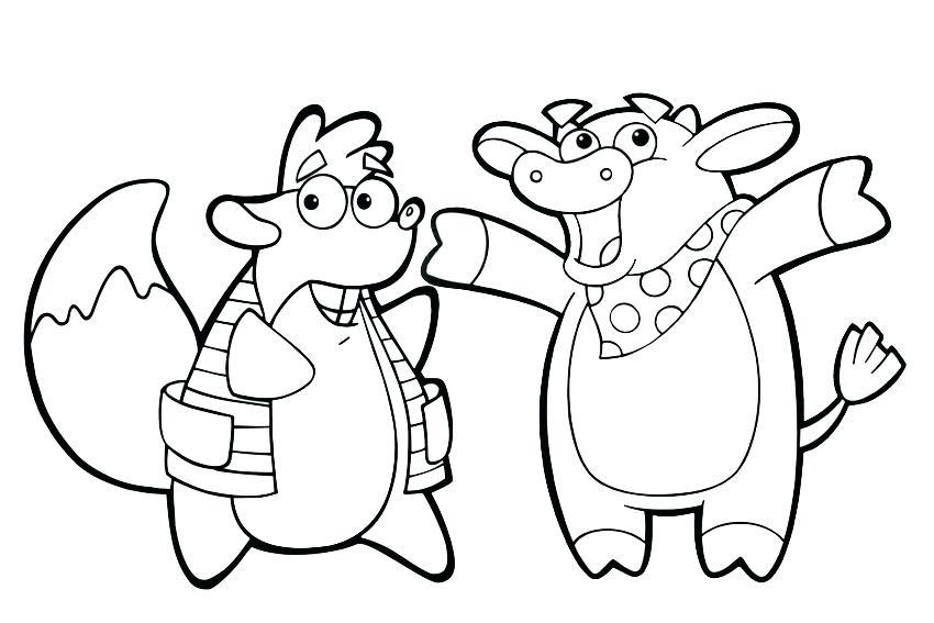 850x567 Dora Coloring Page Coloring Pages Dora Christmas Carol Adventure
