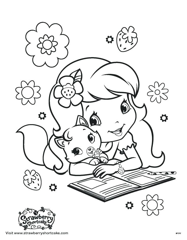 736x946 Cartoon Character Coloring Pages Strawberry Shortcake Characters