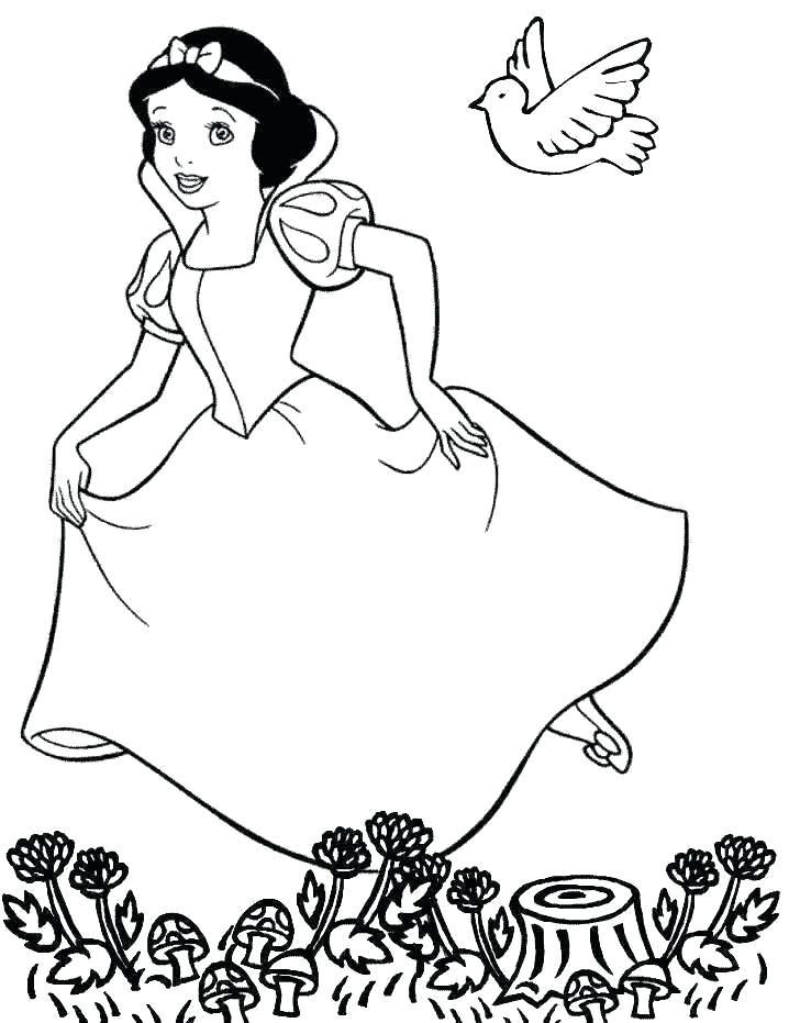 718x931 Free Printable Disney Princess Christmas Coloring Pages Cartoon