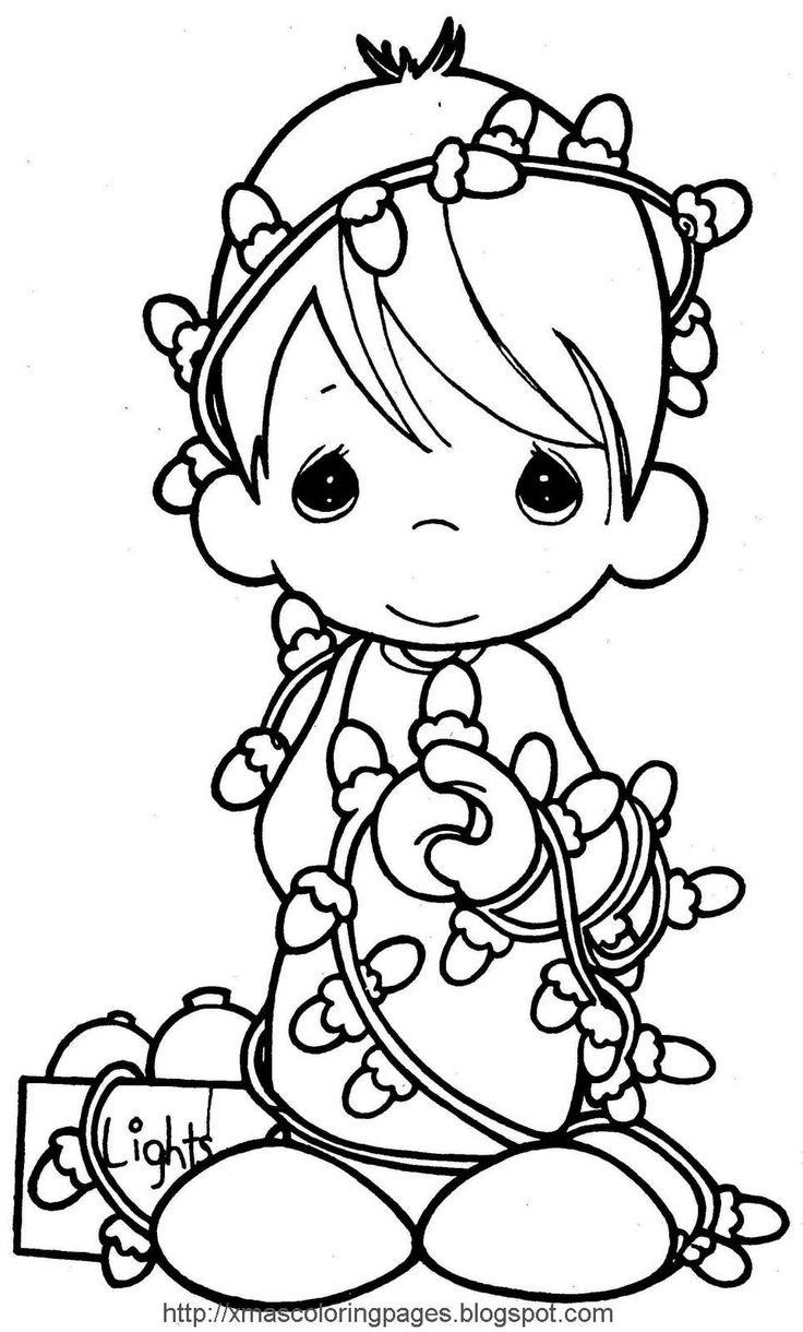 Christmas Characters Coloring Pages