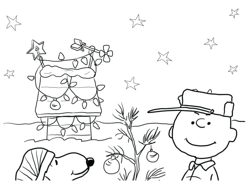 827x609 Charlie Brown Christmas Coloring Pages Free Printable Charlie