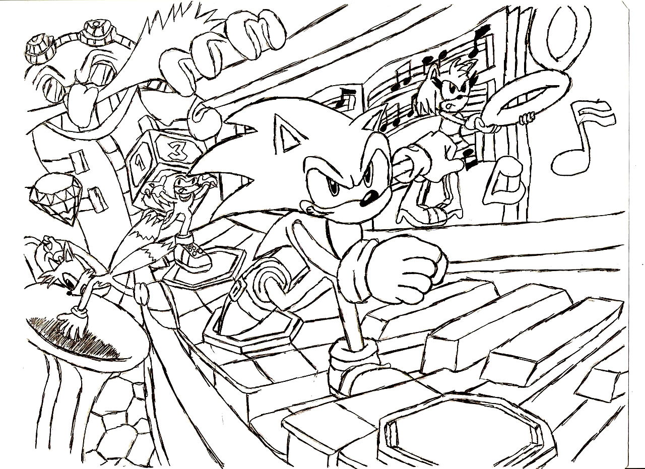 1280x931 Attractive Sonic Characters Coloring Pages To Print The Hedgehog