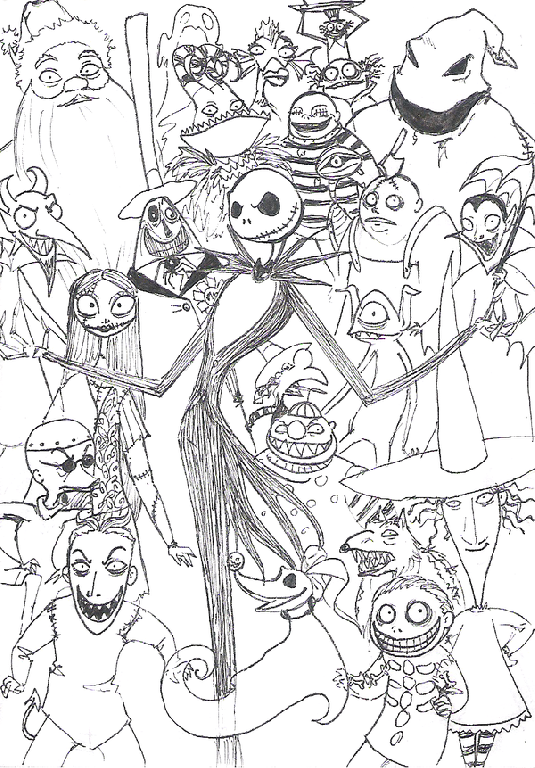 535x768 Nightmare Before Christmas Coloring Pages Kids Gallery