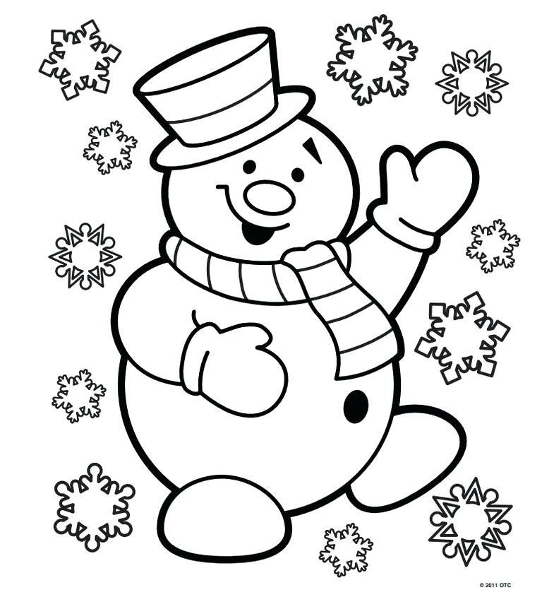 768x845 Coloring Pages Christmas