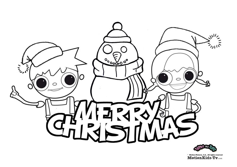800x566 Cartoon Character Coloring Pages For Christmas