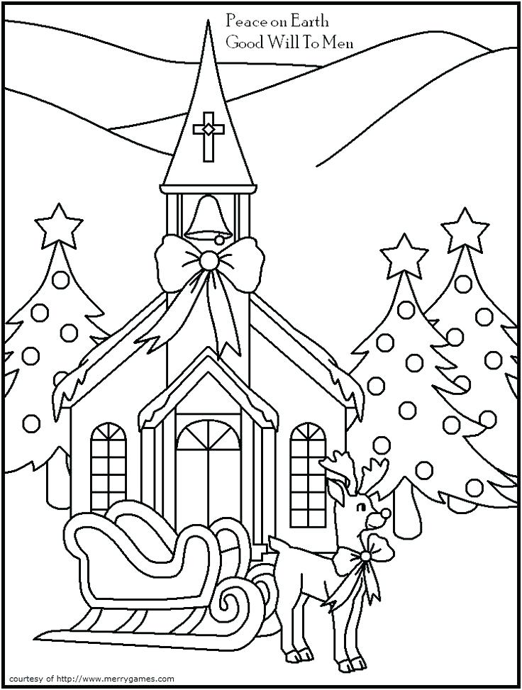 736x973 Christmas Pictures To Color For Church Free Religious Christmas