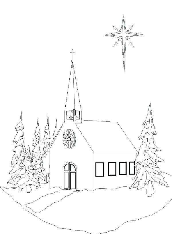 600x815 Church Coloring Sheet Church Thanks To Lord Church Coloring Pages