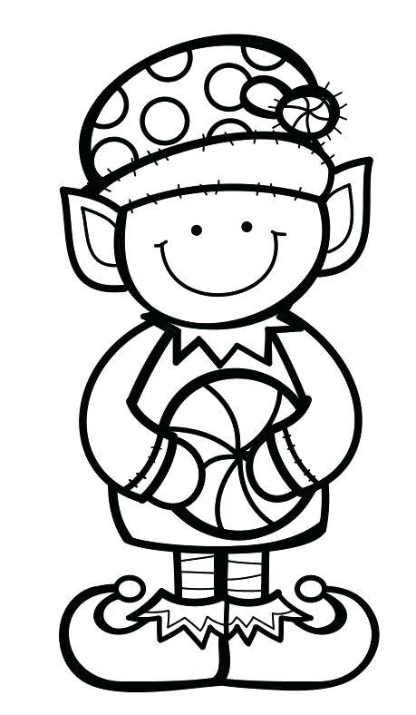 459x788 Elf Para Colorear Preschool Christmas Early Education Digi Stamps