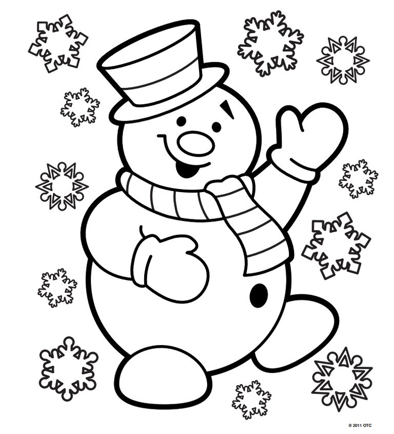 768x845 Christmas Coloring Pages Free