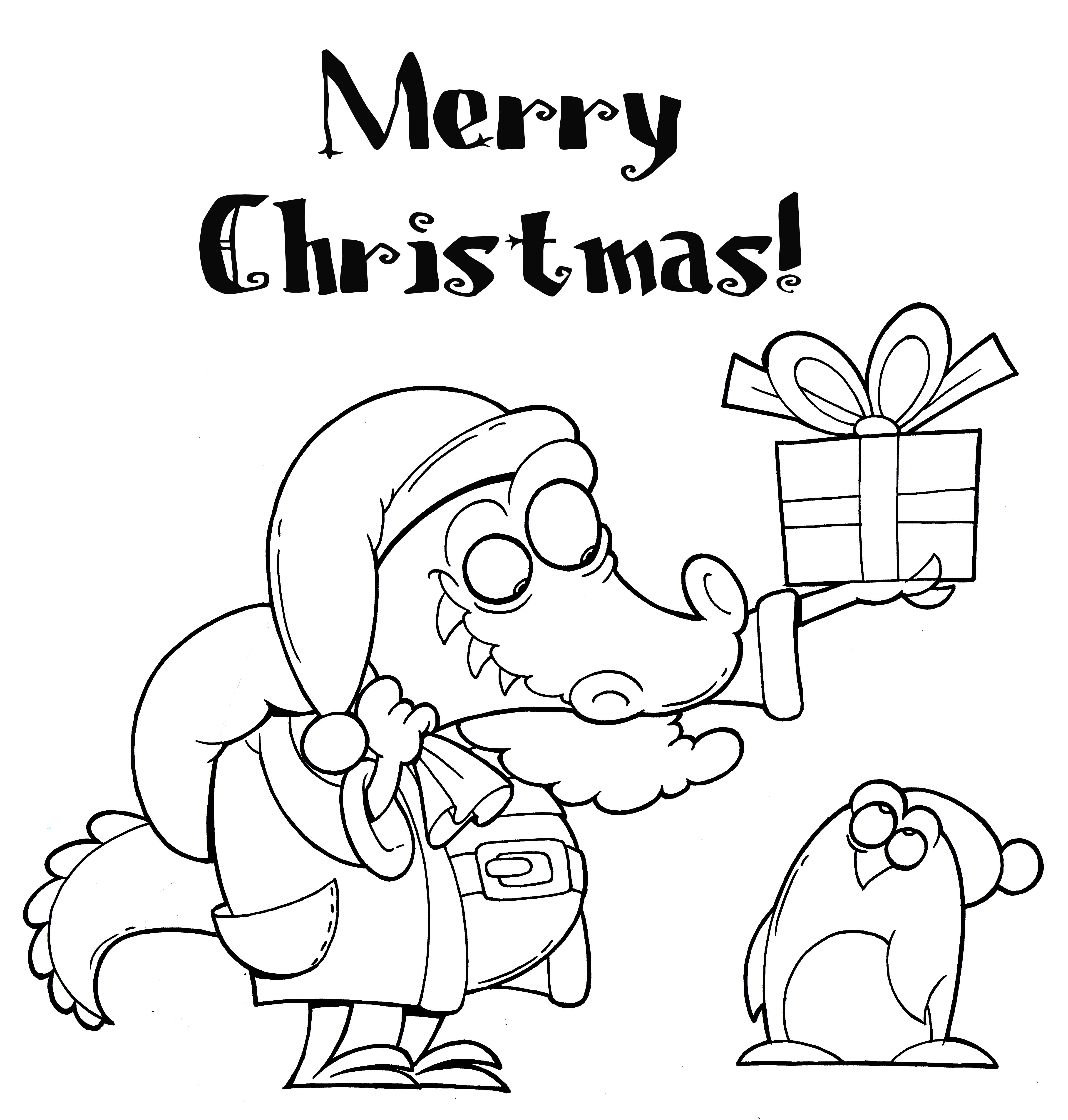 4702x4934 Christmas Coloring Pages