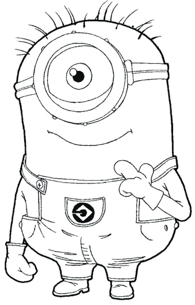 640x997 Minion Coloring Pages Despicable Me Black And White Minion