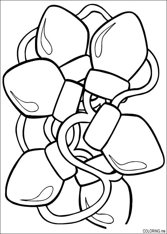 567x794 Black And White Christmas Coloring Pages Christmas Lights