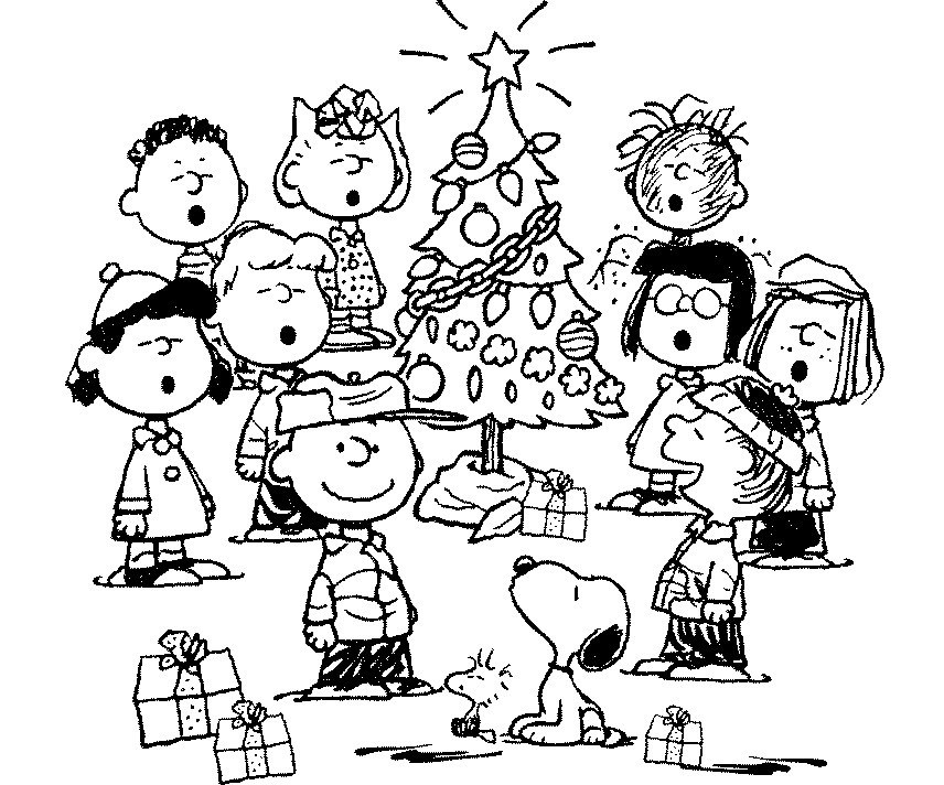 856x712 Best Free Printable Charlie Brown Christmas Coloring Pages