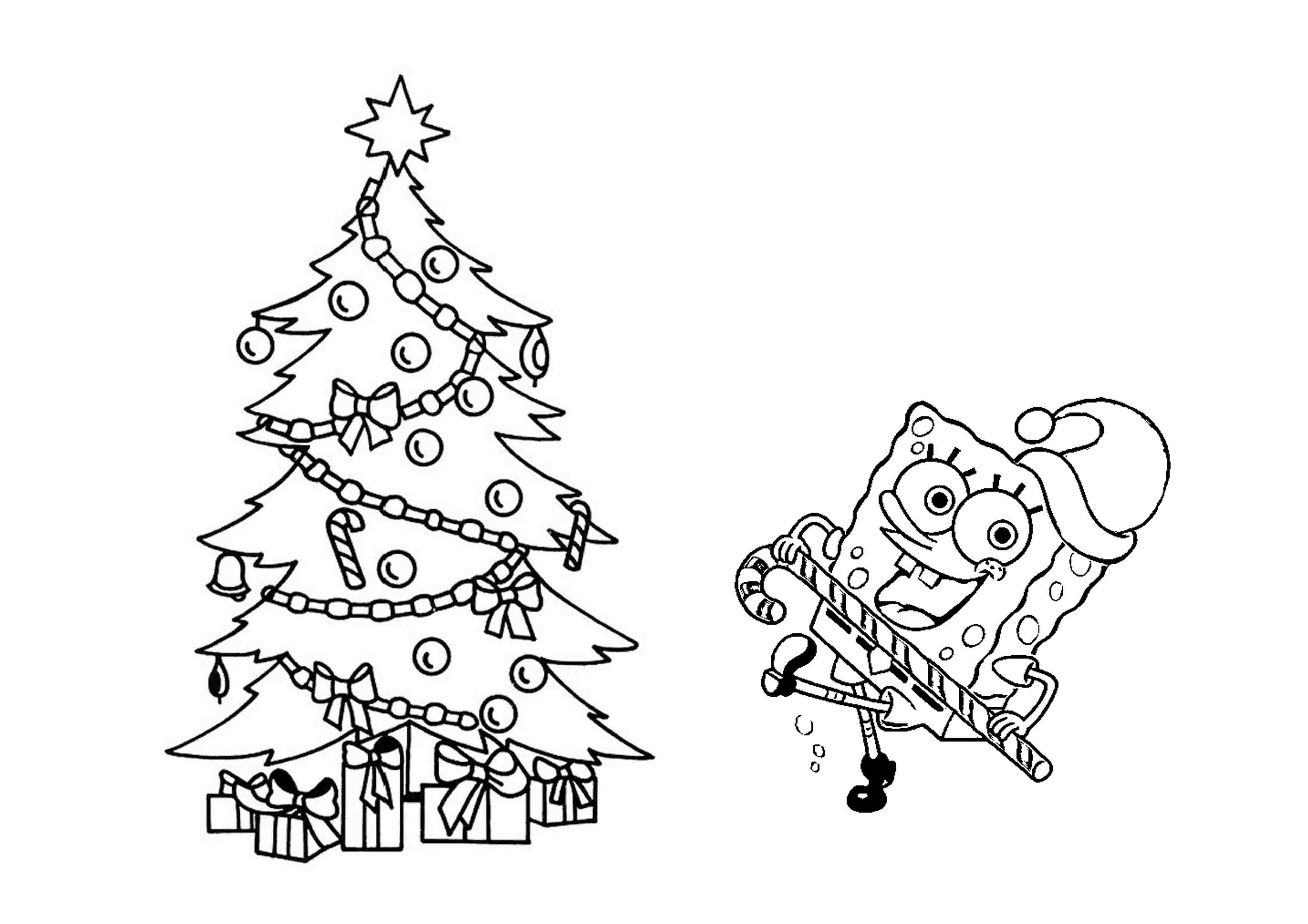 3508x2480 Christmas Tree Stars Coloring Pages Download Coloring For Kids