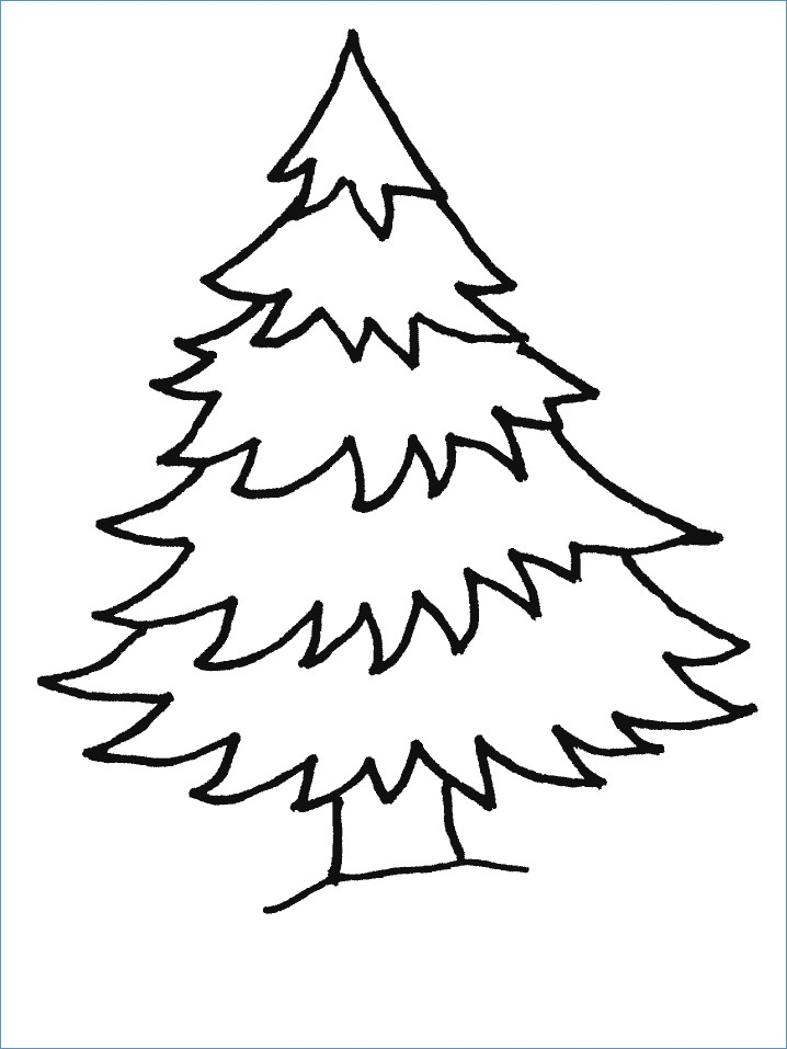 718x957 Merry Christmas Tree Coloring Pages