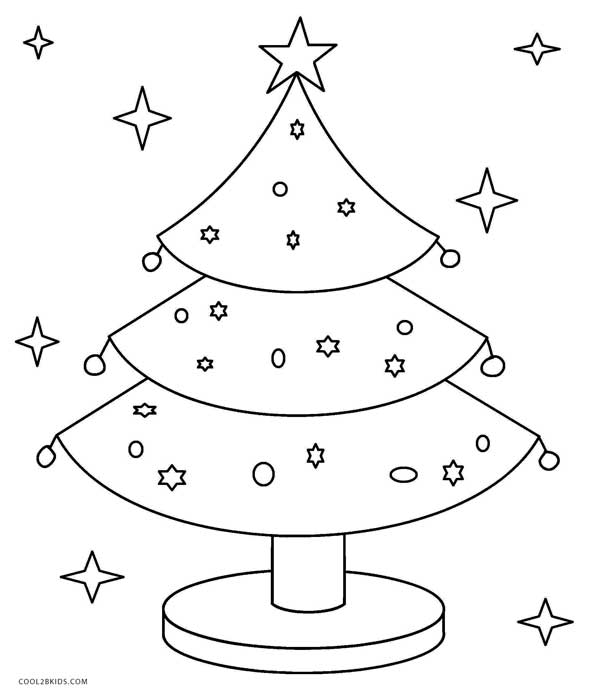 591x700 Printable Christmas Tree Coloring Pages For Kids